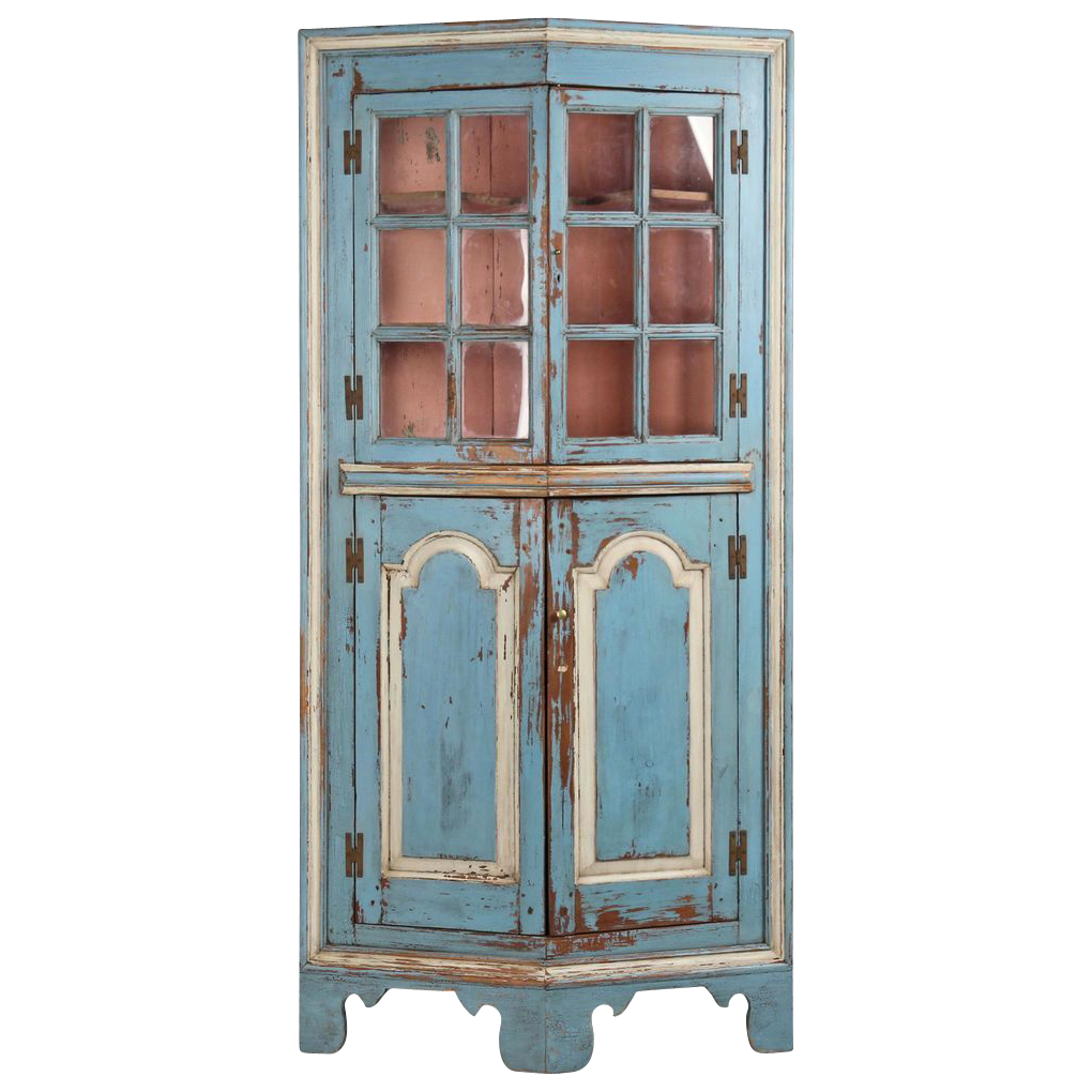 American Chippendale Raised Panel Antique Corner Cabinet, Possibly Eastern  Shore, Late 18th -- - American Chippendale Raised Panel Antique Corner Cabinet, Possibly