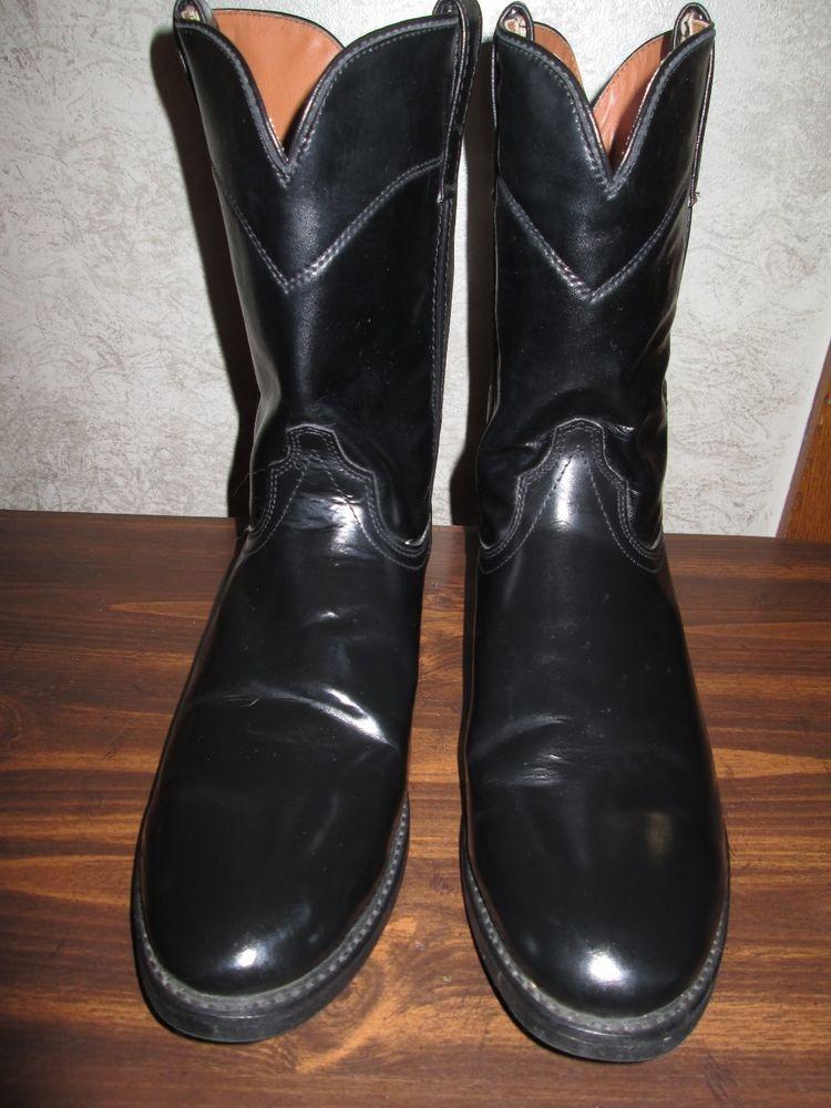 dd758d10e MENS GUIDE GEAR BLACK ROPER WESTERN WORK BOOTS size 13 #GuideGear  #CowboyWestern