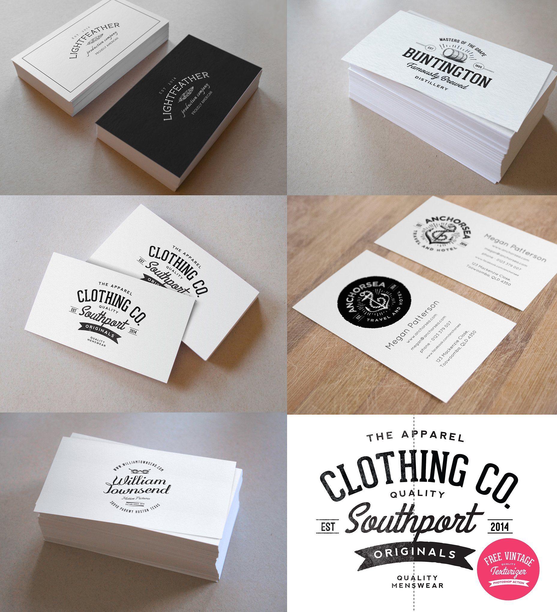 Business Card Mockup & Vintage Logos
