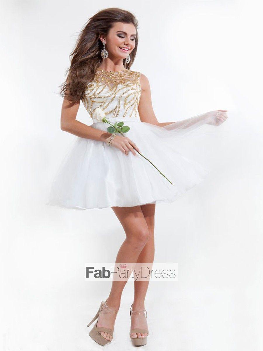 Aline bateau beading sleeveless short mini tulle cocktail dresses