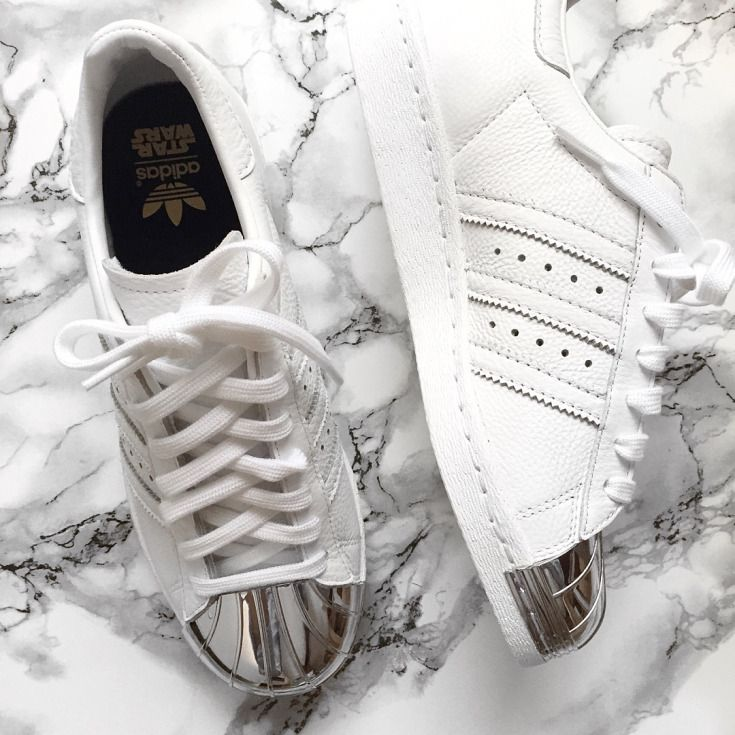 Adidas Superstar Weiß Metallisch Silber Weiß Adidas