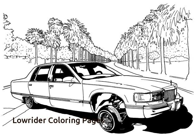 Free Coloring Pages Of Low Rider Cars with Lowrider