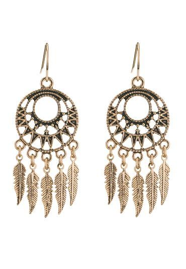 goldtone dreamcatcher earrings (original price, $8.5) available at #Maurices