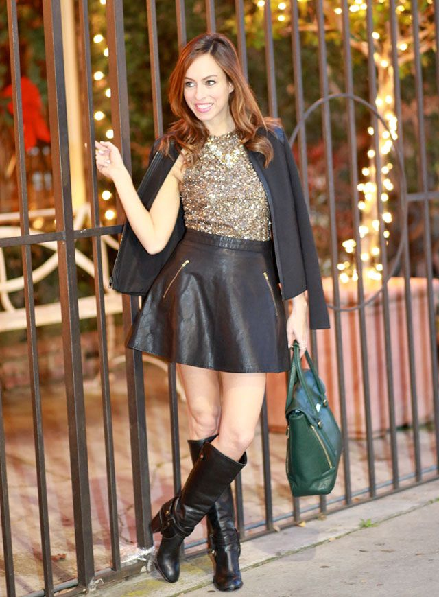 Sydne-Style-sequin-top-cape-jacket-leather-skirt-a-line-shape ...