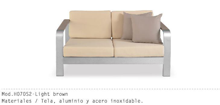 Mueble Exterior Mod h062S2 Cafe Ligero #muebles #sillon #salas - mueble minimalista