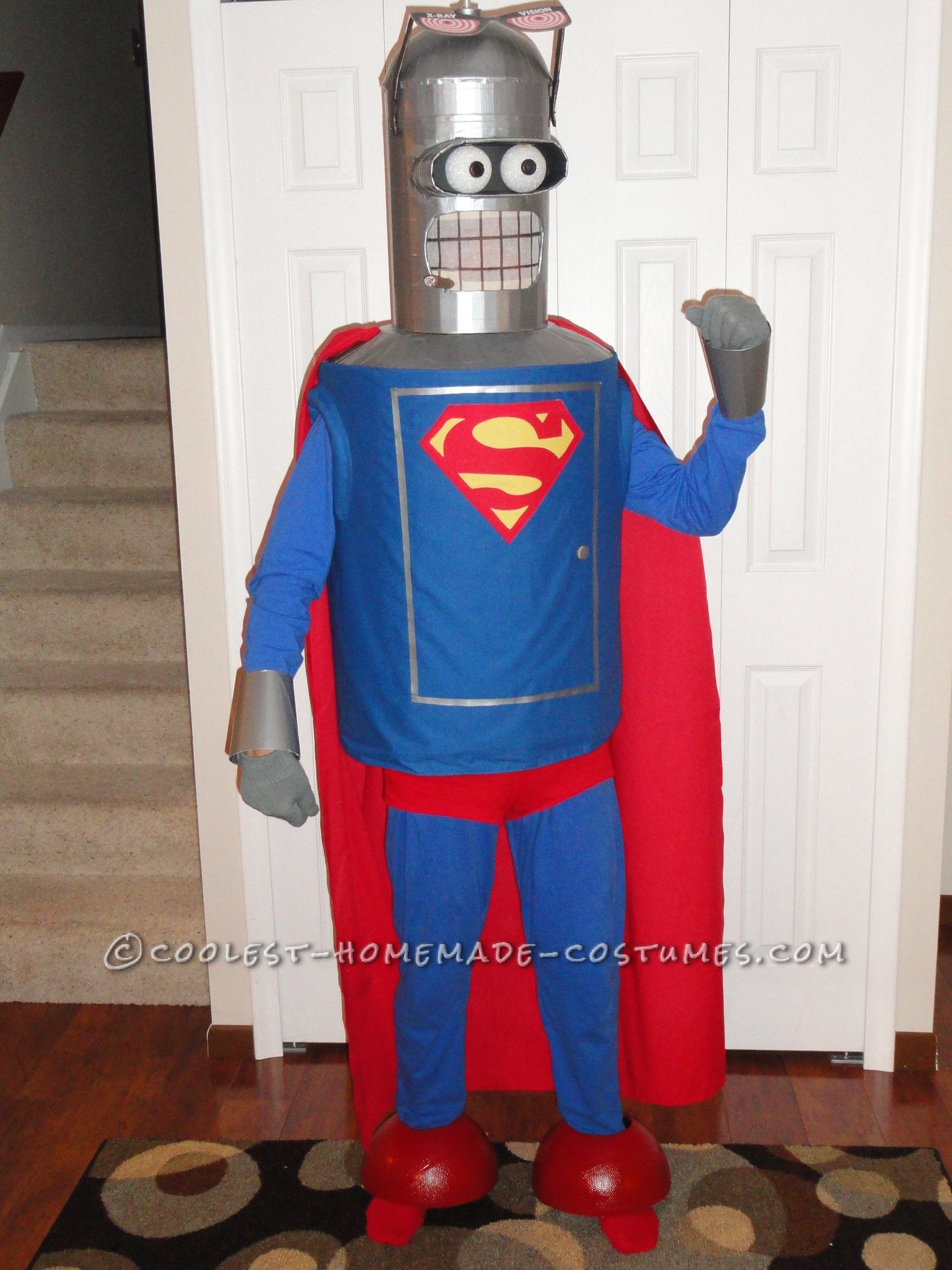 Cool Homemade Comic Convention Costume Ideas Super Bender Futuramau0027s Man of Steelu2026 Enter the Coolest Halloween Costume Contest at ... & Cool Homemade Comic Convention Costume Ideas: Super Bender ...