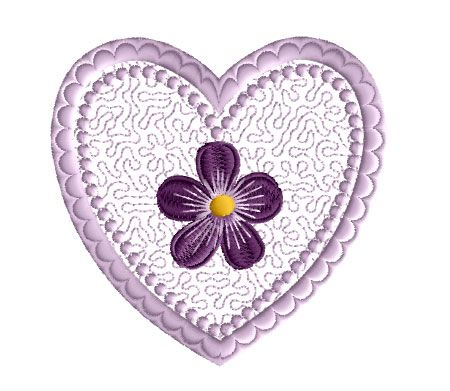 Violet Valentine Free Embroidery Design | Embroidery