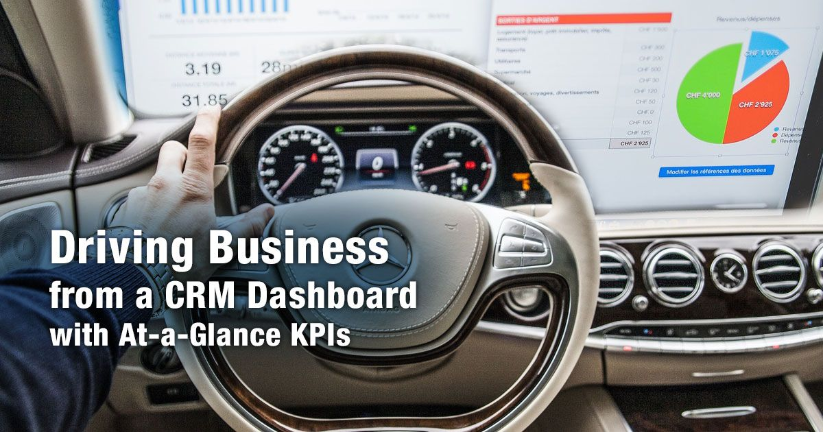 CRM business Intelligence dashboards present data in a customized