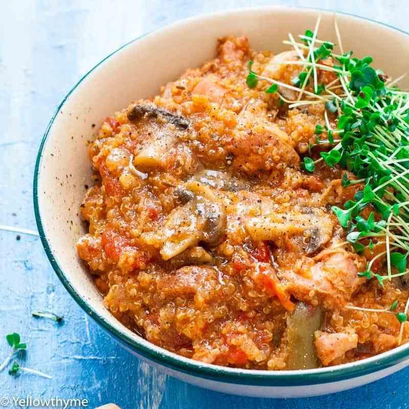 Instant Pot Quinoa Chicken Bowl Recipe Pressure Cooker Recipe Recipe In 2020 Pressure Cooker Recipes Grain Bowl Recipe Chicken Bowl Recipe