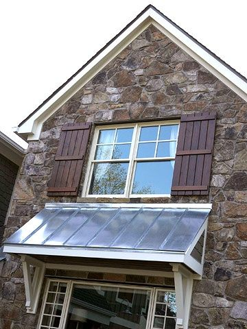 Put An Awning Over The Back Door House Exterior Shutters
