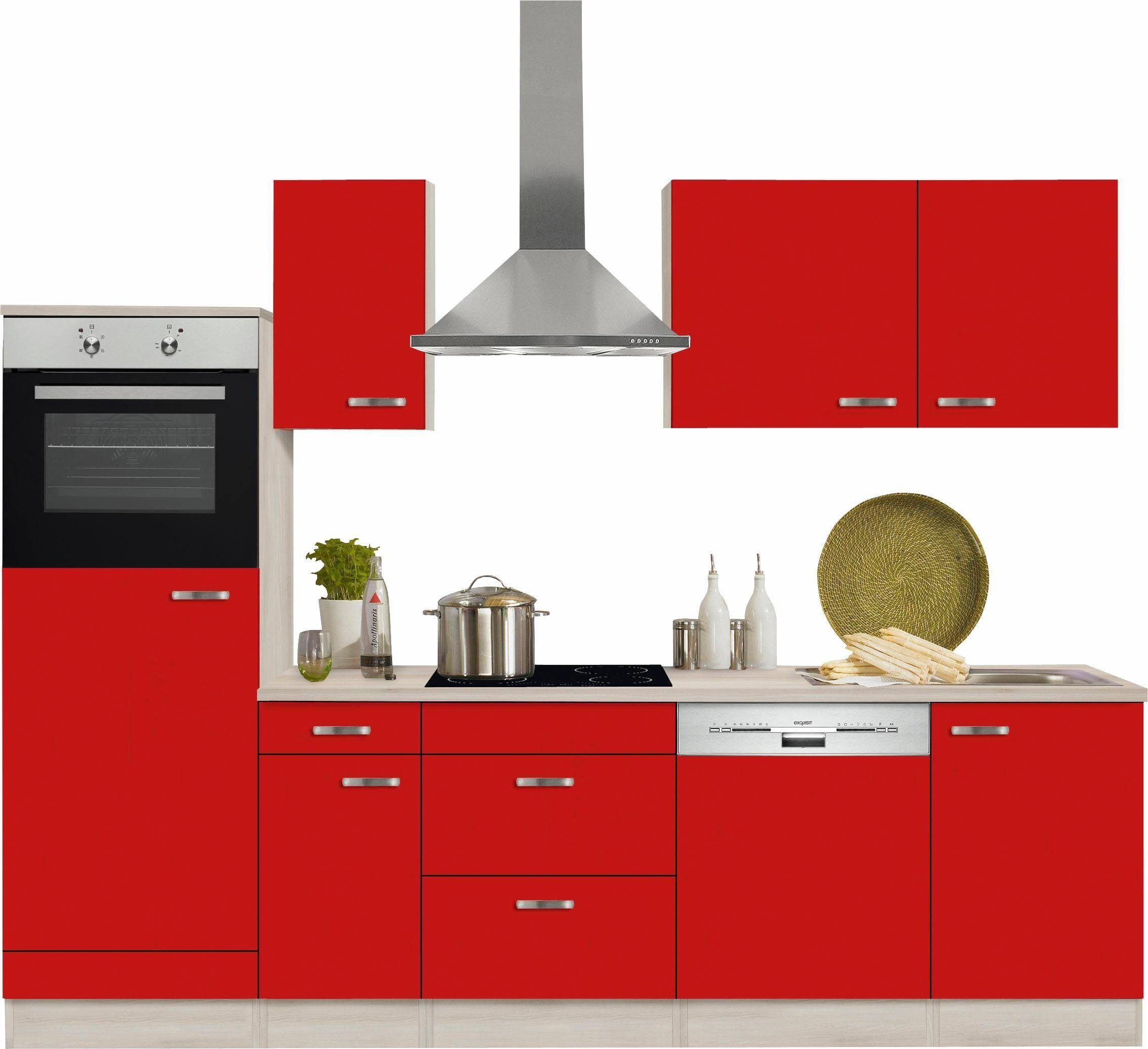 OPTIFIT Küchenzeile ohne EGeräte »Faro« rot Jetzt