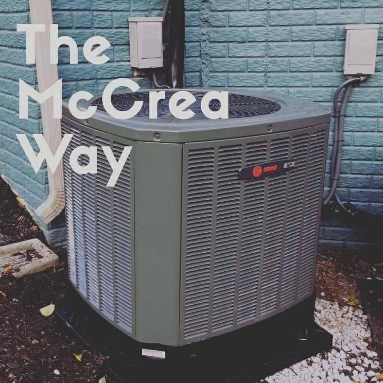 It's The McCrea Way. Home appliances, Box fan, Trash can