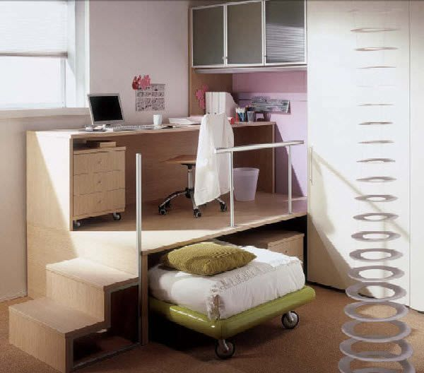 Escritorio infantil con cama nido (mixto) - WHY SYSTEM : 14 - Quelli ...