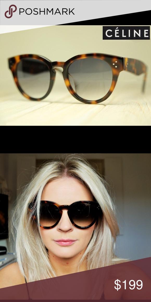 2c2e660336d1 Auth Celine thin preppy Havana tortoise sunglasses Authentic preowned Celine  sunglasses in Havana tortoise. Thin preppy style. Celine Accessories  Sunglasses