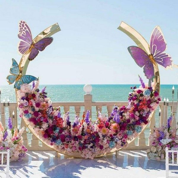 20 Modern Wedding Arches and Backdrops from nebodecor
