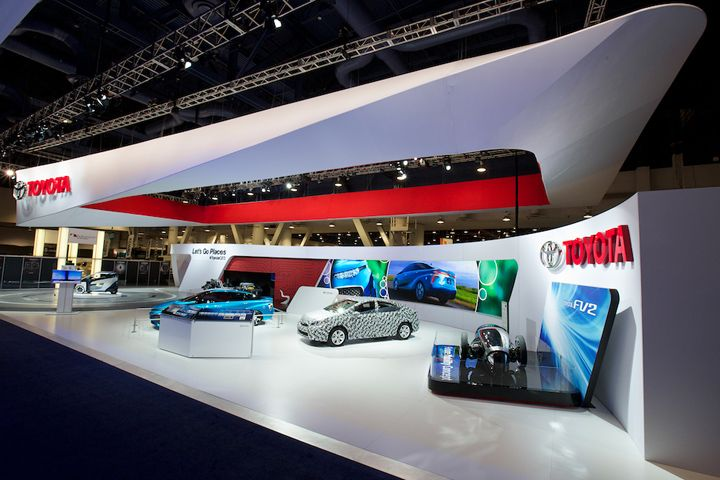 Exhibition Booth Design Las Vegas : Toyota booth at ces by george p johnson los angeles