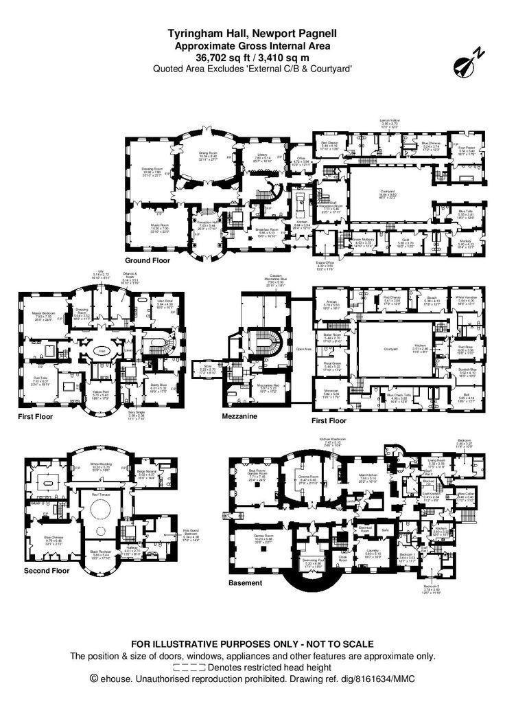 hawkstone hall floor plan - buscar con google | mansions, castles