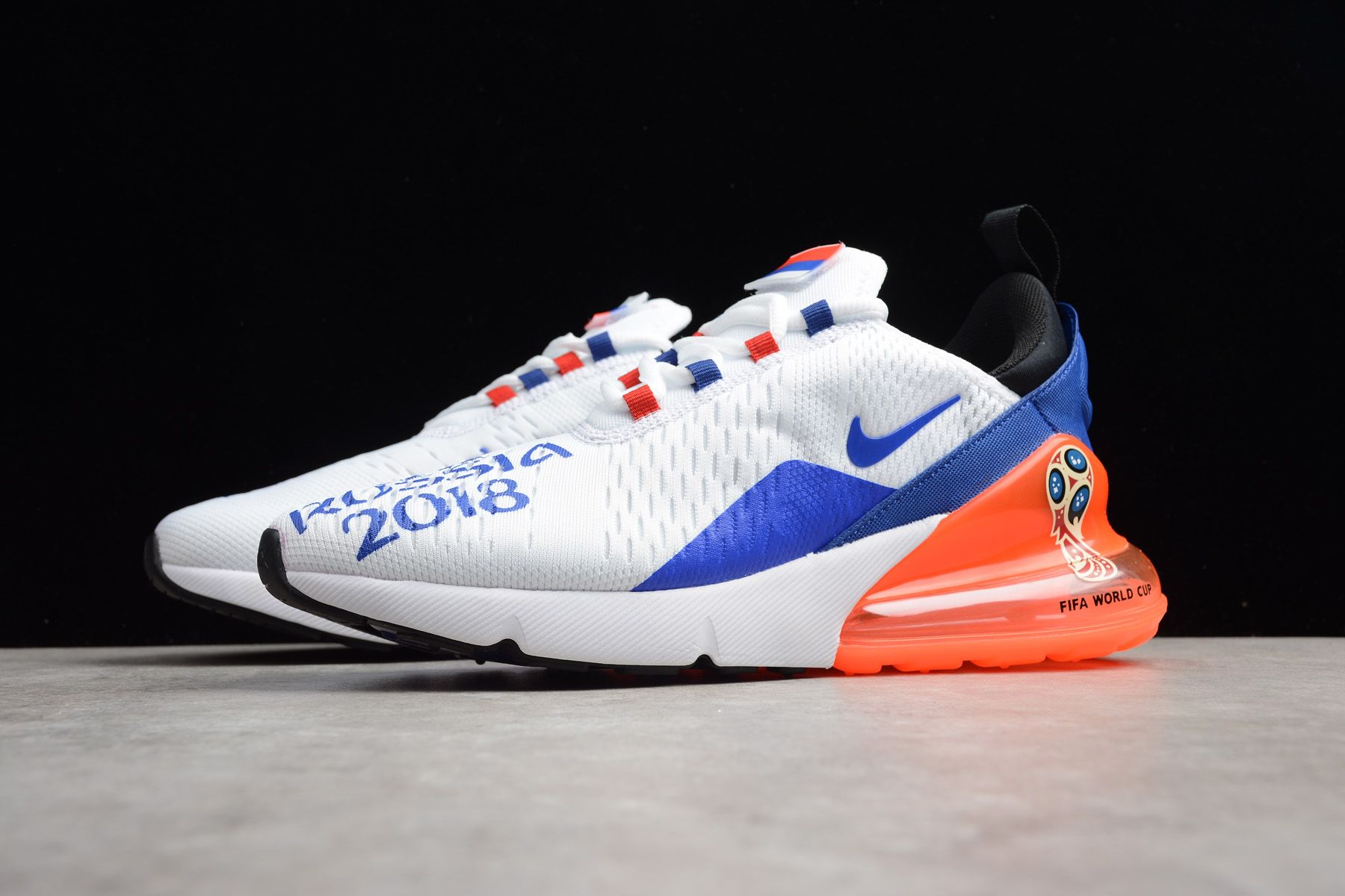 "cf2c8dd88a512d FIFA World Cup Nike Max 270 ""Air Russia 2018"" White Racer Blue-Orange"