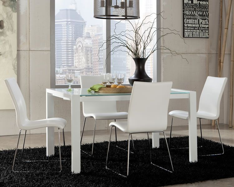 Modern White Dining Room Chairs  Dining Furniture  Pinterest Beauteous White Dining Room Table Set 2018