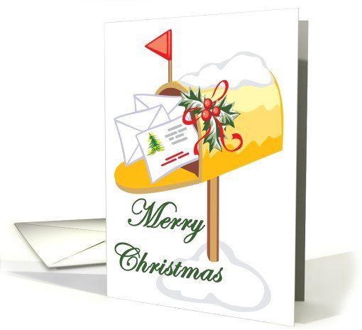 Mailbox New Address Christmas Card | Christmas cards ...