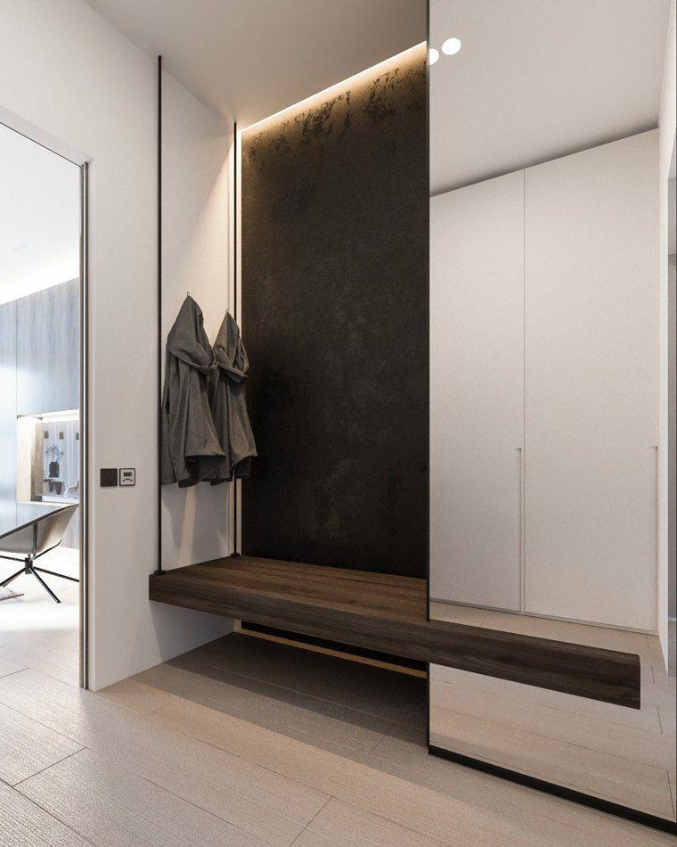 Minimalistische Wohnkultur Von Yevhen Zahorodnii Minimalistisch Wohnen Haus Interieurs Und Garderoben Eingangsbereich