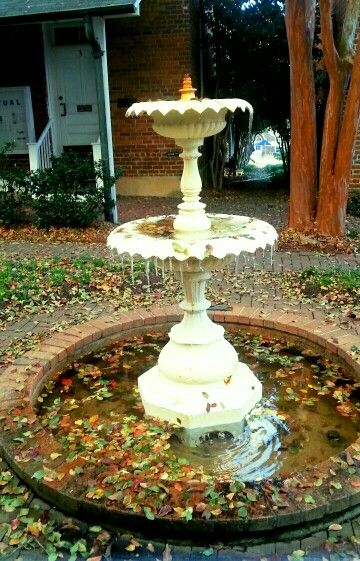 Frozen fountain in mid-November. It's getting cold here at Salem!
