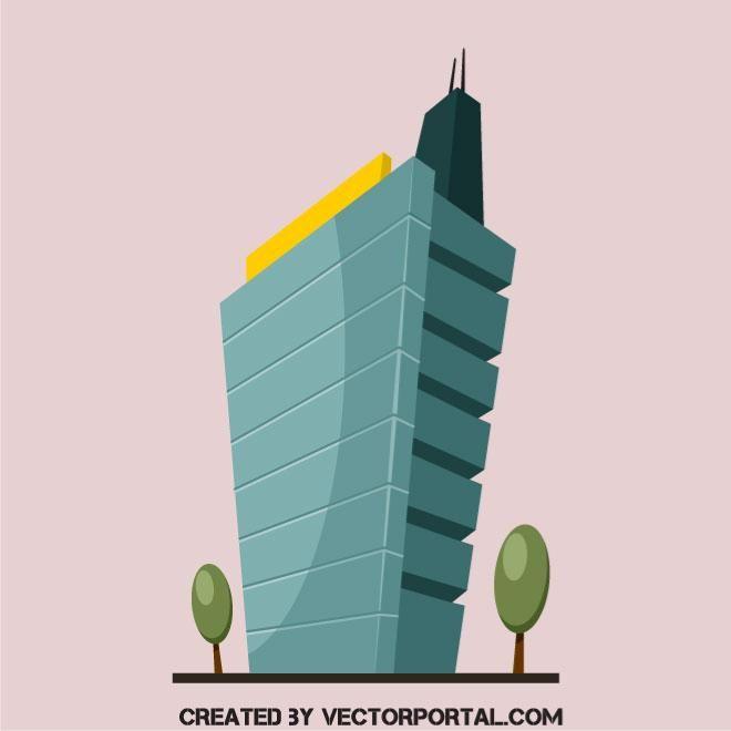 Modern Building Vector Image Modern Buildings Building Modern