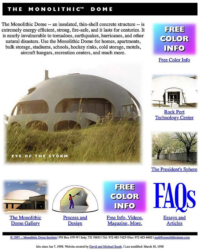 """""""President's Choice"""" Monolithic Dome Home Plans"""