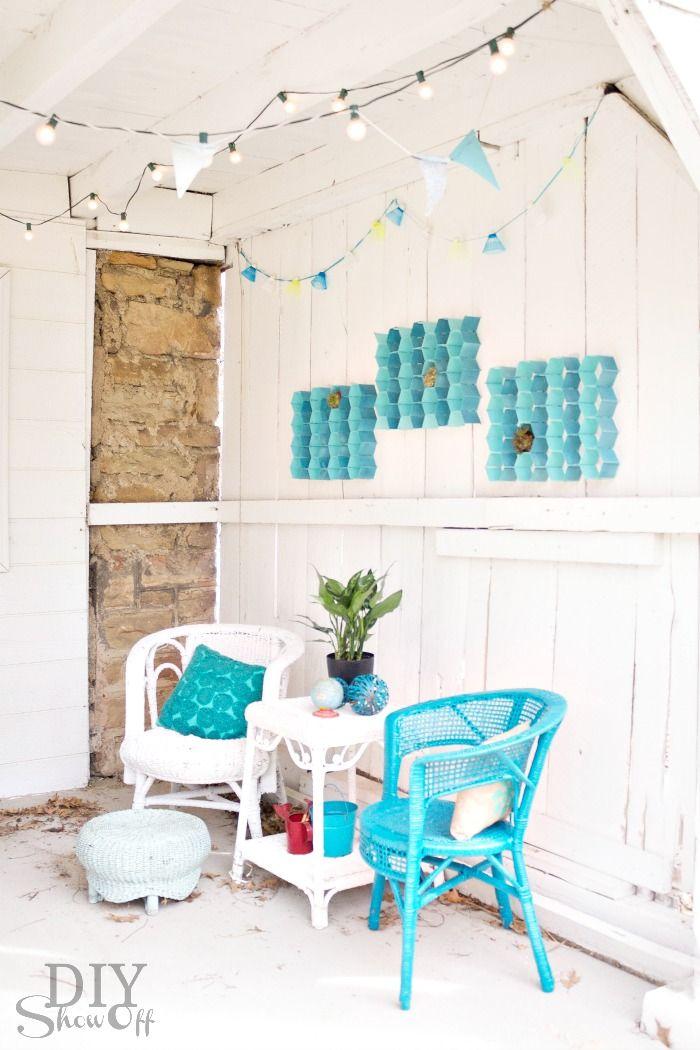 Exceptional Easy DIY Indoor Outdoor Honeycomb Wall Art