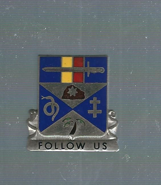 293rd Infantry Asmic 293 B 22 M Hallmark Clutch Back Crest Di Infantry Crest Military Insignia