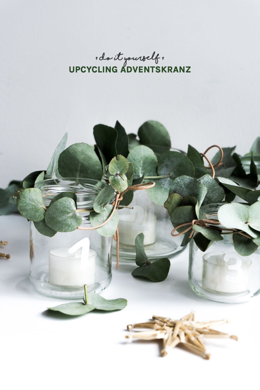 Adventskranz Selber Basteln Ideen diy adventskranz eine upcycling idee mit altglas upcycling and