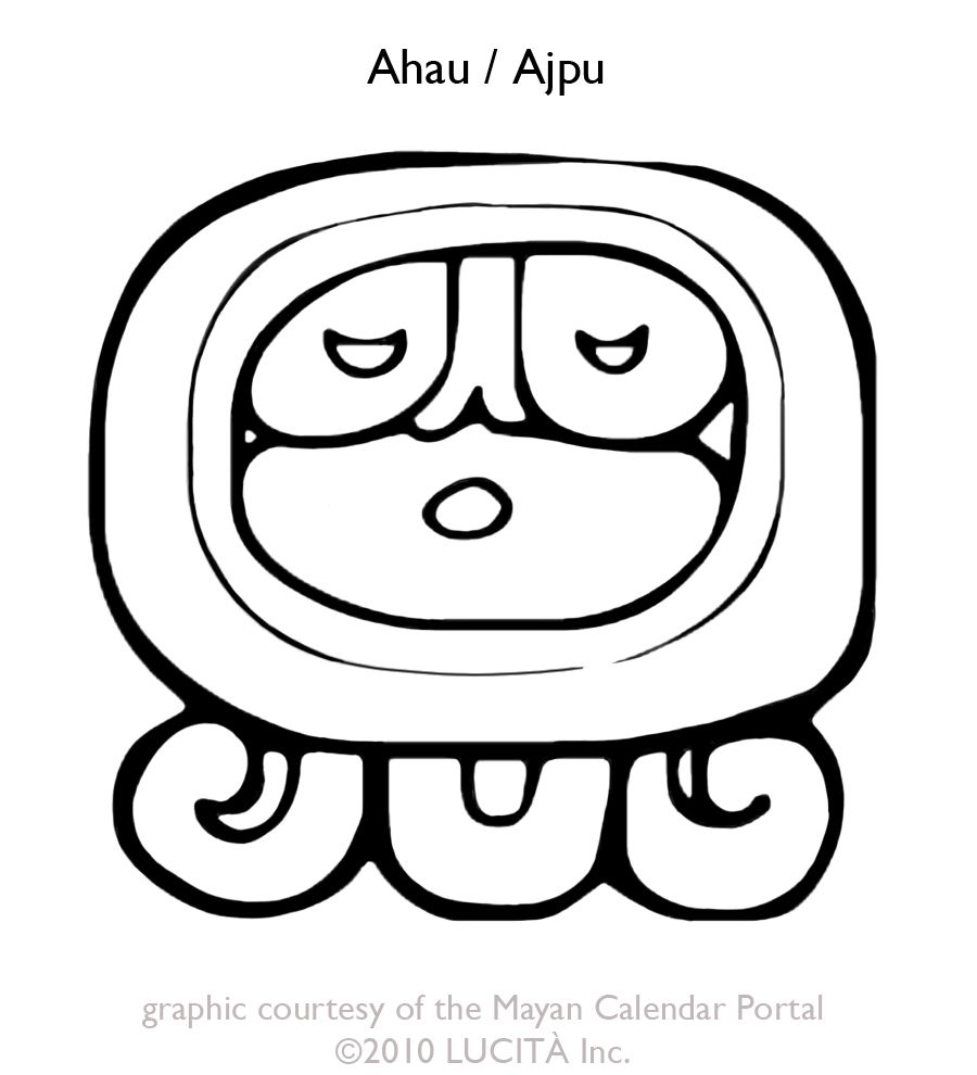 Ahau (Ajpu) day sign | Mayan Day Signs and Numbers | Pinterest