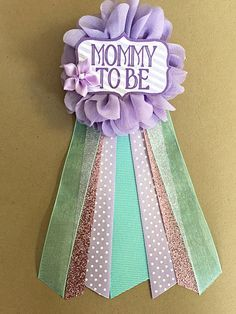 Marvelous Purple Teal Aqua Baby Shower Corsage Pin Mommy To Be Flower Ribbon Pin  Purple And Pink Glitter Corsage Glitter Rhinestone By Afalasca On Etsy ...