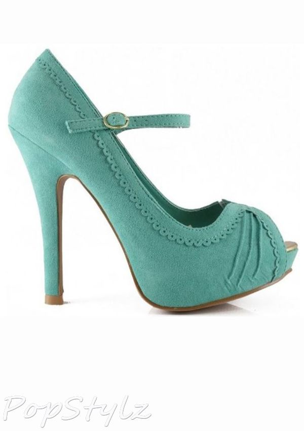 Qupid Precious-33 Salloped Platform Pumps
