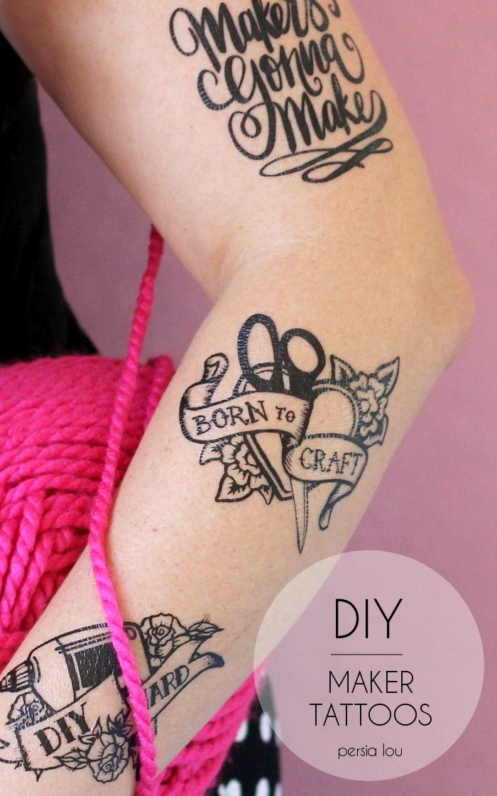 DIY Maker Tattoos | Little Fashionista | Crafts | Temp tattoo, Diy ...