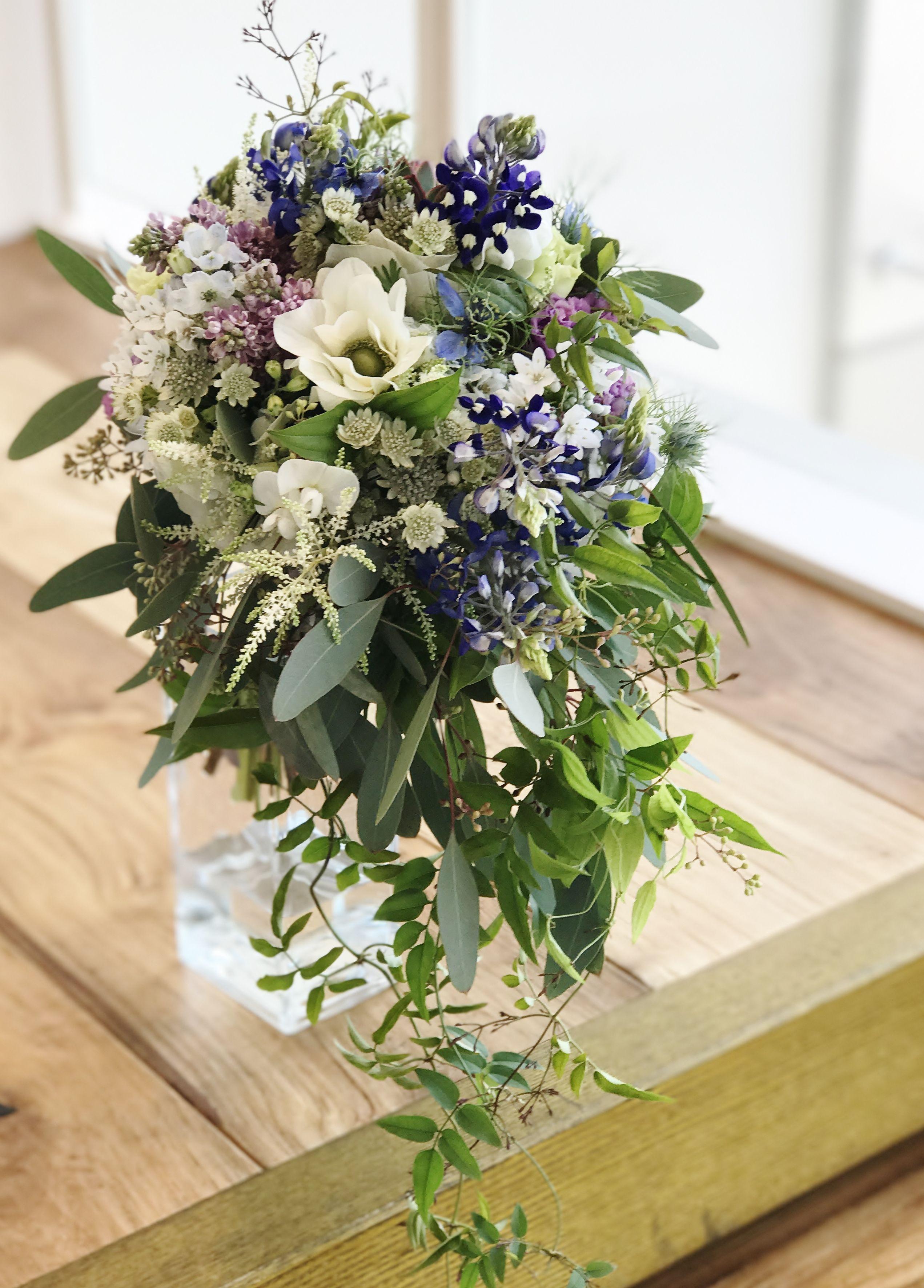 Amandansail Novaresevressetrose Wedding Blue Purple Bouquet