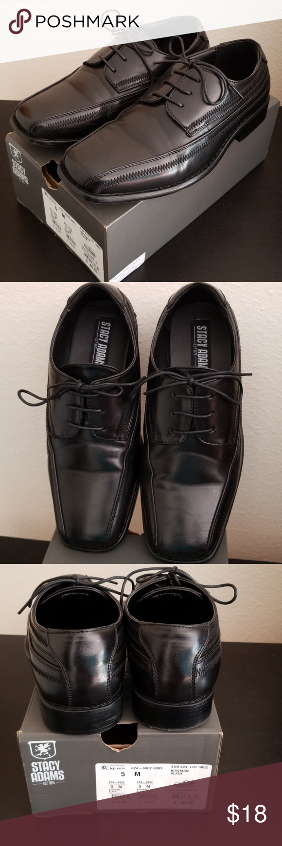 Stacy Adams Boys Dress Shoes Dress shoes worn only once for a wedding. Lace  up d88c4e6c87d