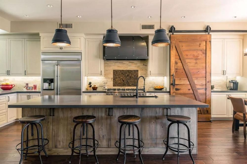 30 Amazing Home With Industrial Farmhouse Design and Decor Ideas #industrialfarmhouse