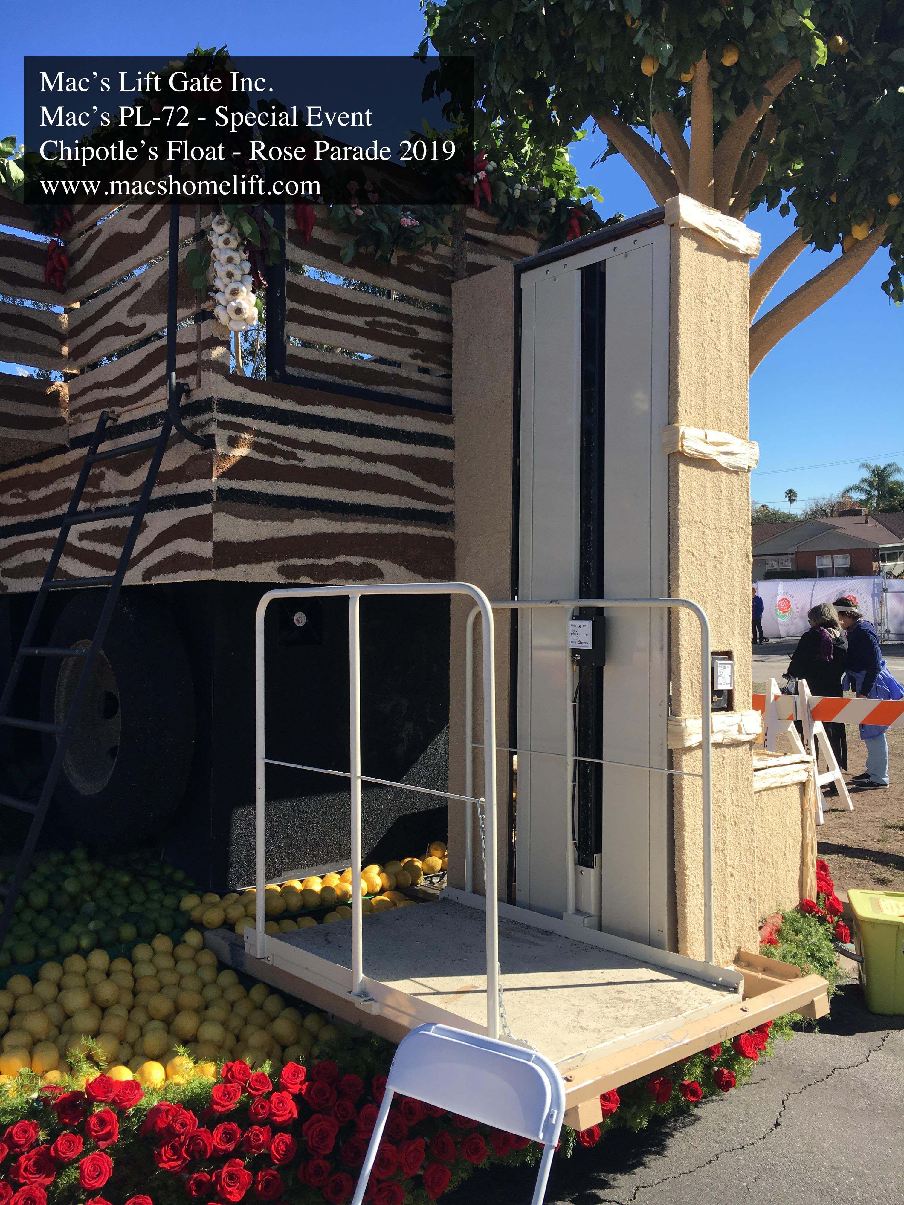Mac's Vertical Home Lift PL50, PL72 & PL90 750 lbs