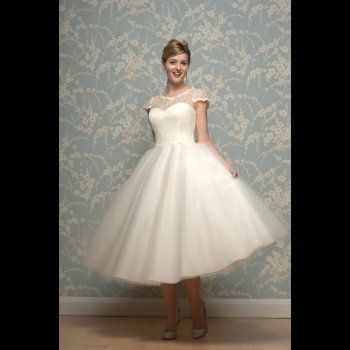 White Rose Lilyanna Tea Length Wedding Dress