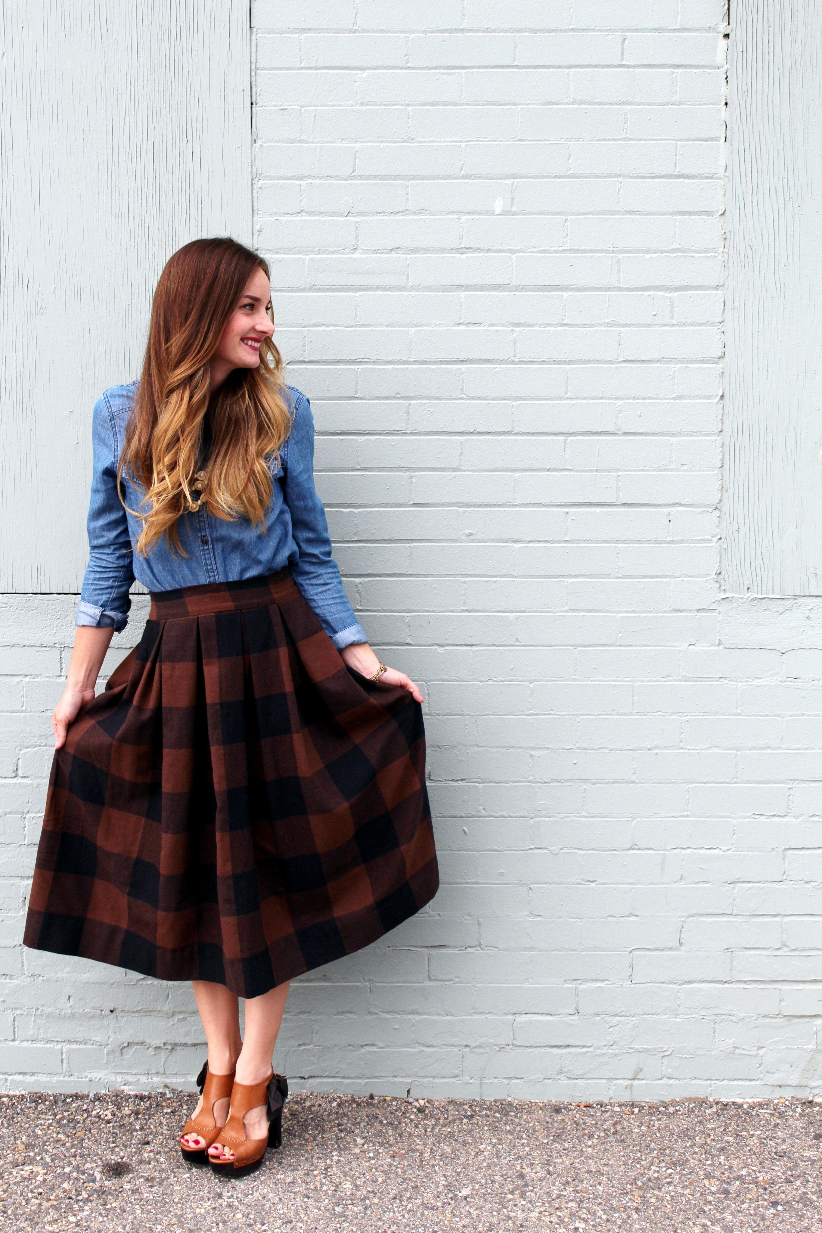 anthro inspired midi skirt sewing tutorial lifestyle