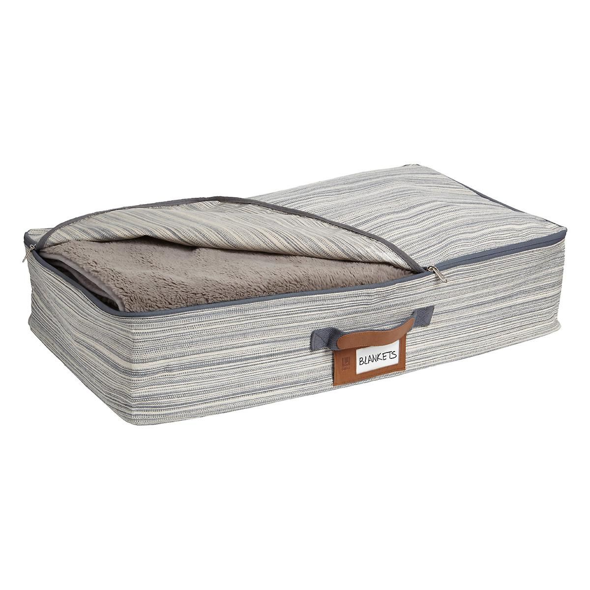 Umbra Grey Under Bed Crunch Storage Bag The Container