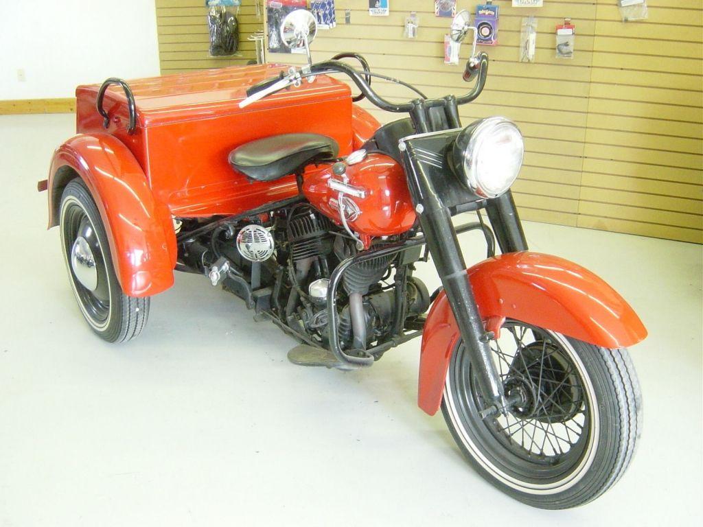 1959 red harley davidson servicar 45 ci trike original