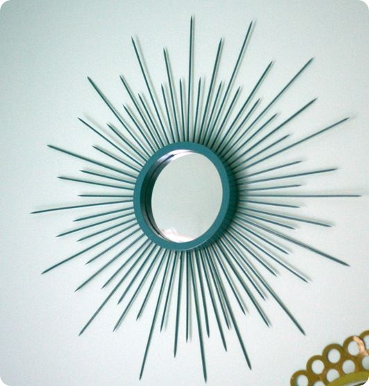 My daughter wants me to make this sunburst mirror for her ...