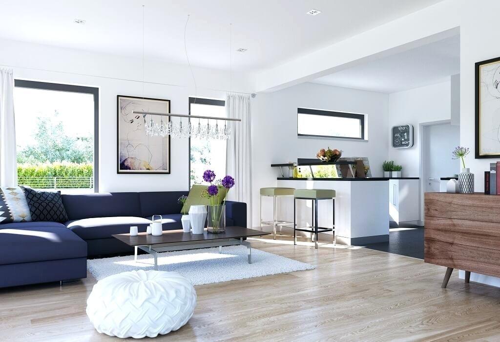 Wohnzimmer Ideen Mit Offener Ka 1 4 Che Inneneinrichtung Haus