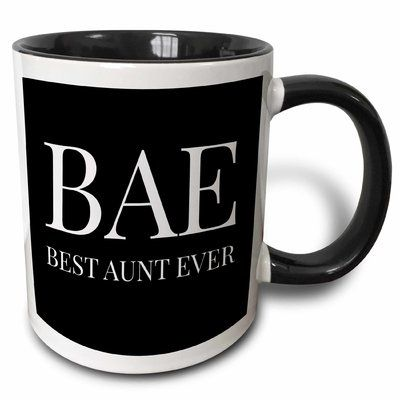 Symple Stuff Mastropietro Bae Best Aunt Ever Letters On A Background Coffee Mug Mugs Best Auntie Ever Symple Stuff