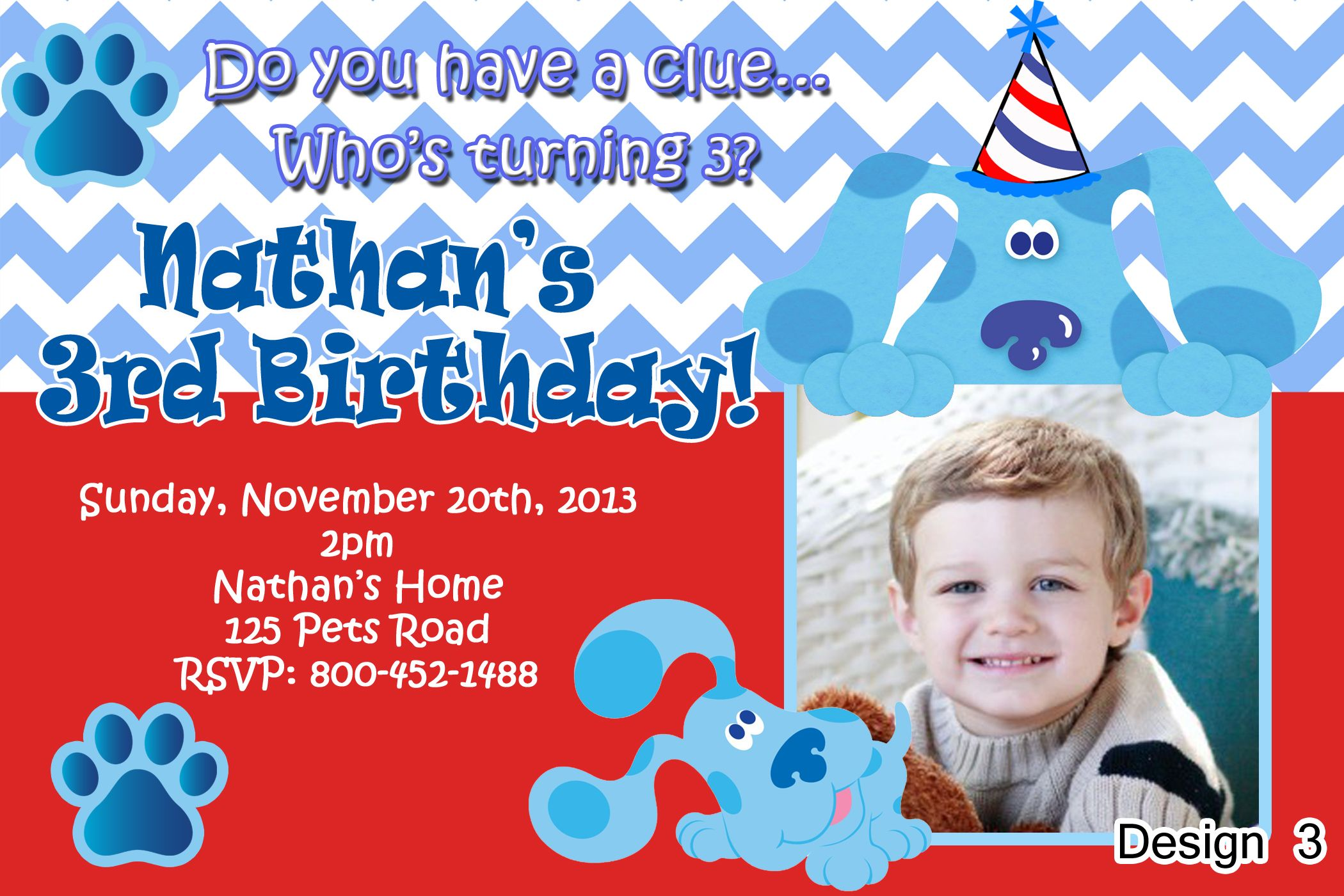 Blue\'s Clues Birthday Invitations | Blue\'s Clues Birthday ...