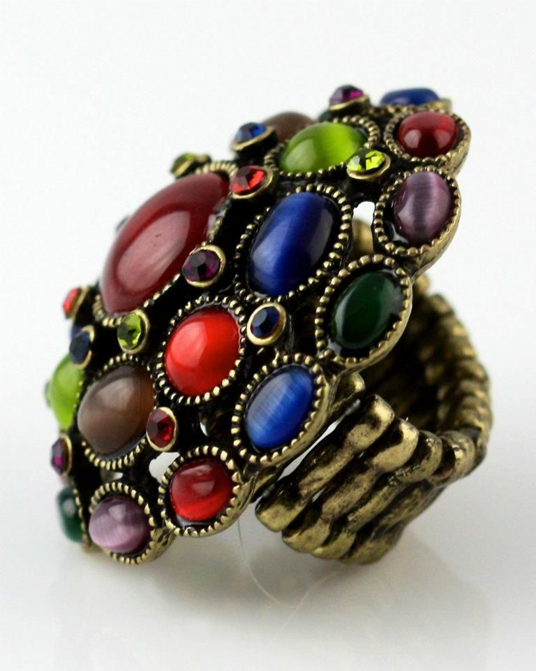 With so many playful shapes and colors...this ring is my excuse to have a little fun ;)