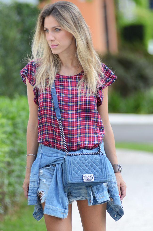 0fd2694b7c glam4you nativozza blog look do dia chanel valentino jeans aremo 7 LOOK DO  DIA Casual Xadrez