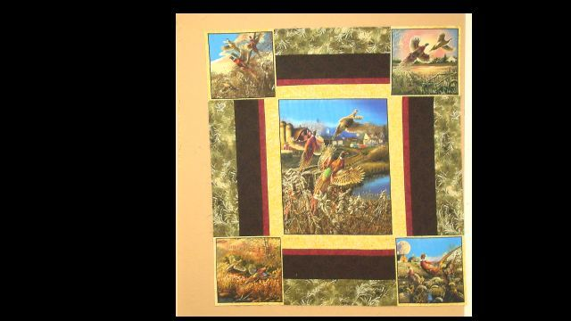 pheasant quilt wall hanging i designed   Quiulting   Pinterest ...